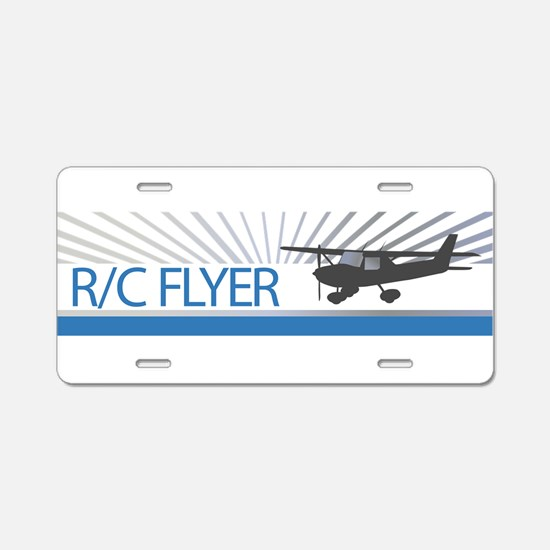 RC Flyer Hign Wing Airplane Aluminum License Plate