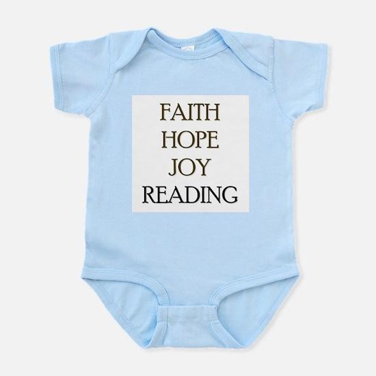FAITH HOPE JOY READING Infant Bodysuit