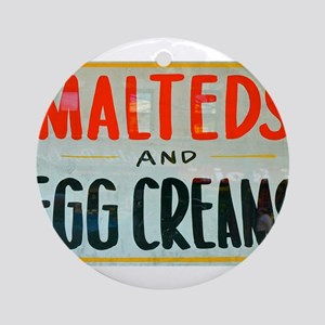 NYC: Malteds and Egg Creams Ornament (Round)