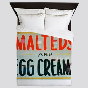 NYC: Malteds and Egg Creams Queen Duvet