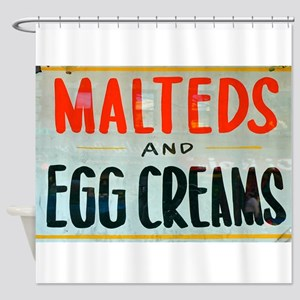 NYC: Malteds and Egg Creams Shower Curtain