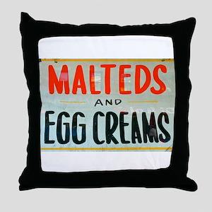 NYC: Malteds and Egg Creams Throw Pillow