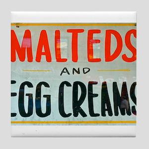 NYC: Malteds and Egg Creams Tile Coaster