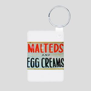 NYC: Malteds and Egg Creams Aluminum Photo Keychai