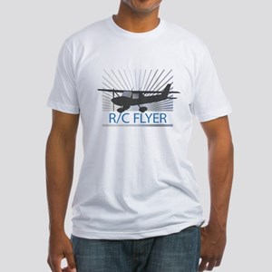 RC Flyer Hign Wing Airplane Fitted T-Shirt