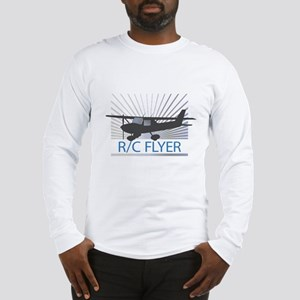 RC Flyer Hign Wing Airplane Long Sleeve T-Shirt