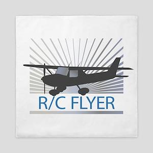 RC Flyer Hign Wing Airplane Queen Duvet
