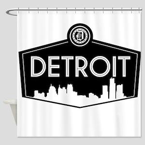 Retro Detroit Shower Curtain