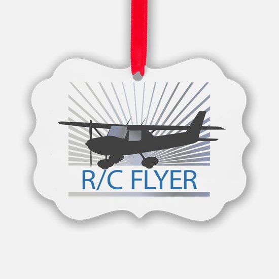 RC Flyer Hign Wing Airplane Ornament