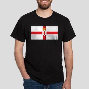 Northern Ireland Flag Black T-Shirt