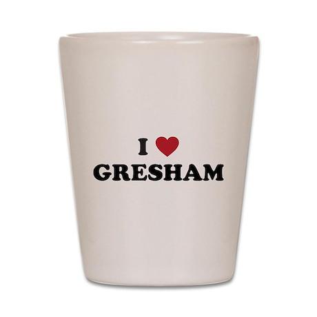 I Love Gresham Oregon Shot Glass