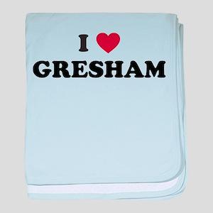 I Love Gresham Oregon baby blanket