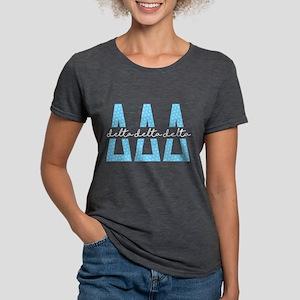 Delta Delta Delta Polka D Womens Tri-blend T-Shirt