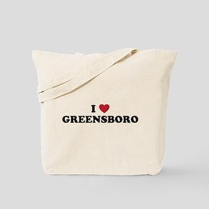 I Love Greensboro North Carolina Tote Bag