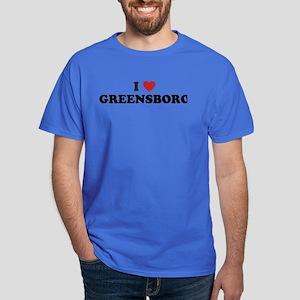 I Love Greensboro North Carolina Dark T-Shirt