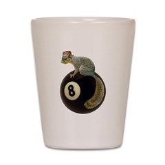 Squirrel on 8 Ball Shot Glass
