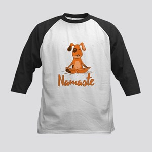 Namaste Yoga Dog Baseball Jersey