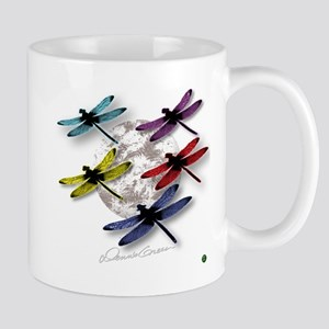 Dragonflies Around Some Planet Mug