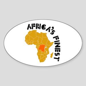 Congo Africa's finest Sticker (Oval)