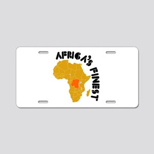 Congo Africa's finest Aluminum License Plate