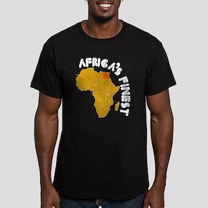 Egypt Africa's finest Men's Fitted T-Shirt (dark)