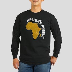Eritrea Africa's finest Long Sleeve Dark T-Shirt