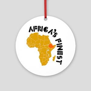 Ethiopia Africa's finest Ornament (Round)