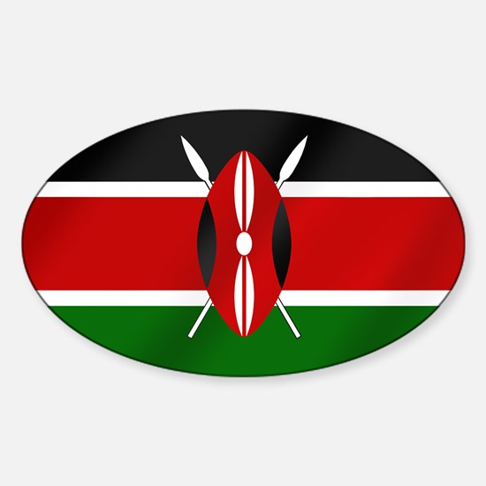 Flag of Kenya Sticker (Oval)