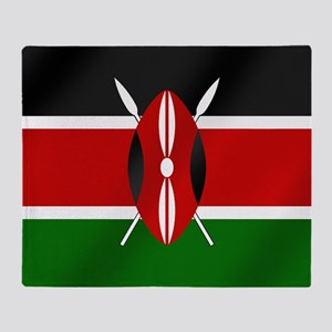 Flag of Kenya Throw Blanket