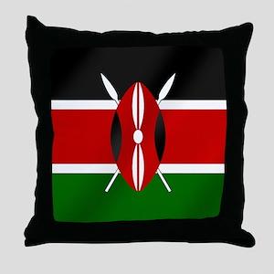 Flag of Kenya Throw Pillow
