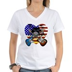 Power trio4 Women's V-Neck T-Shirt