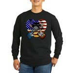 Power trio4 Long Sleeve Dark T-Shirt