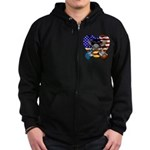 Power trio4 Zip Hoodie (dark)