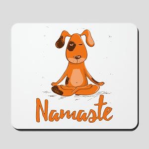 Namaste Yoga Dog Mousepad