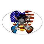 Power trio4 Sticker (Oval 10 pk)