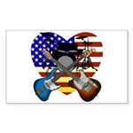 Power trio4 Sticker (Rectangle 50 pk)