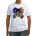 Power trio4 Fitted T-Shirt