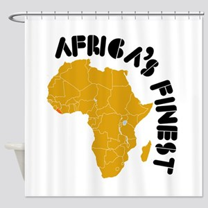 Liberia Africa's finest Shower Curtain