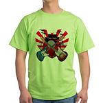 Power trio5 Green T-Shirt