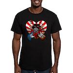 Power trio5 Men's Fitted T-Shirt (dark)