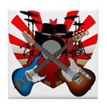 Power trio5 Tile Coaster