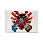 Power trio5 Rectangle Magnet
