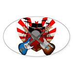 Power trio5 Sticker (Oval)