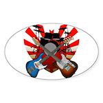 Power trio5 Sticker (Oval 10 pk)