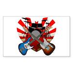 Power trio5 Sticker (Rectangle 50 pk)