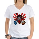 Power trio5 Women's V-Neck T-Shirt