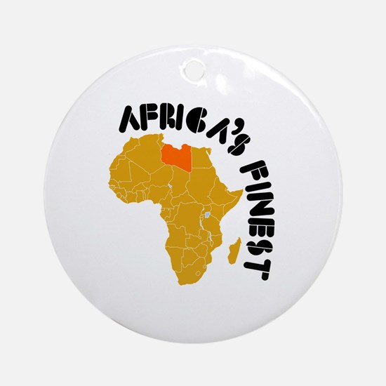Libya Africa's finest Ornament (Round)