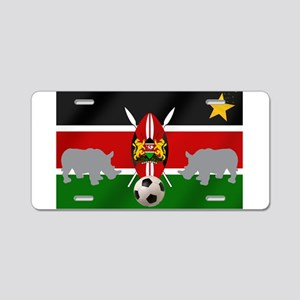Kenya Football Flag Aluminum License Plate