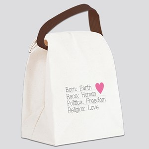 Born Race Politics Religion Canvas Lunch Bag