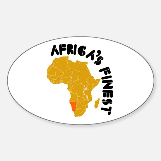 Namibia Africa's finest Sticker (Oval)